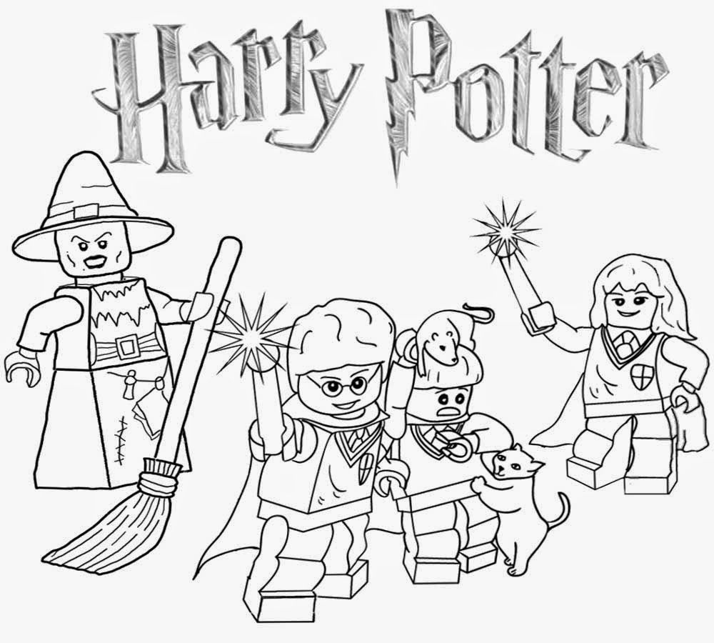 Harry Potter Coloring Pages for Kids/ Children Print & Color PDF