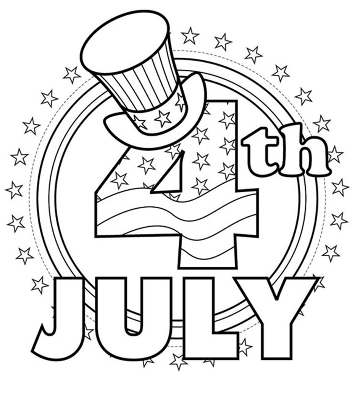 4th of July Coloring Pages Printable PDF Download 2021