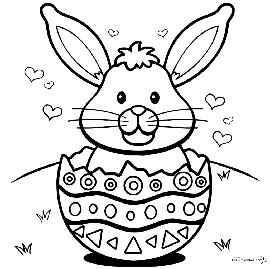 Easter Coloring Pages PDF Printable for Kids/ Children   Best ...
