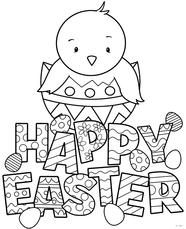 Easter Coloring Pages PDF Download for Kids/ Children