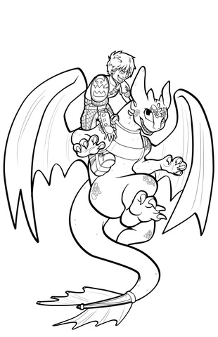 How to Train Your Dragon Coloring Pages Printable PDF for Kids