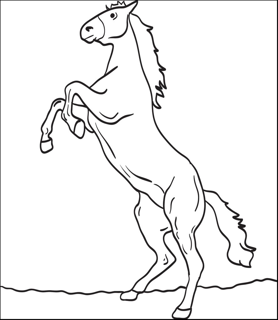 horse coloring pages for kids pdf