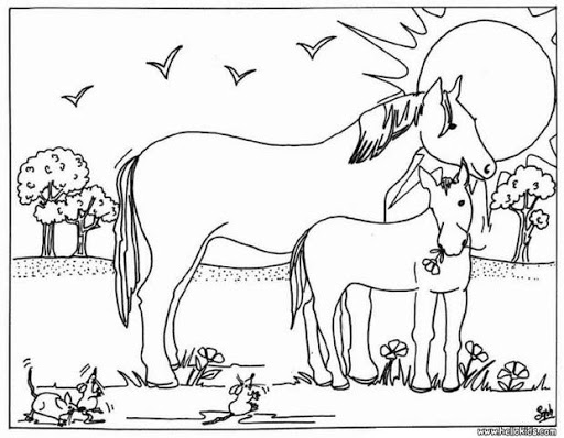 best horse coloring pages for kids