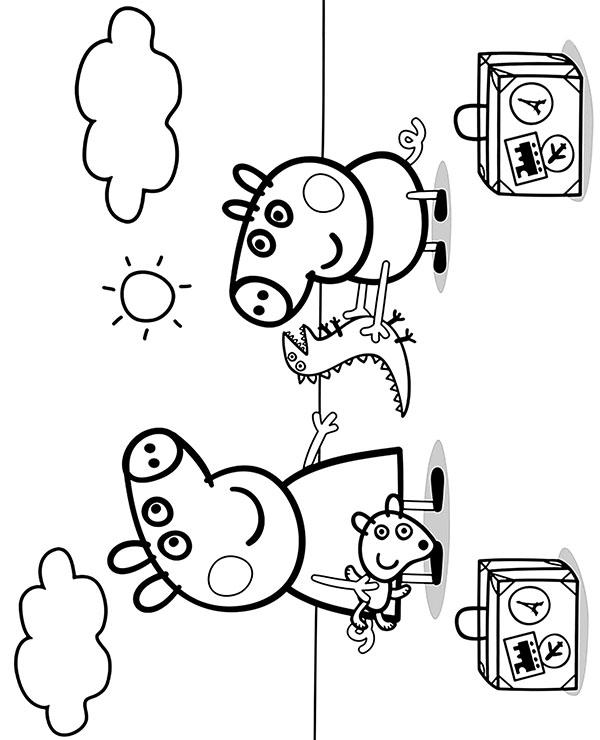peppa pig coloring pages printable